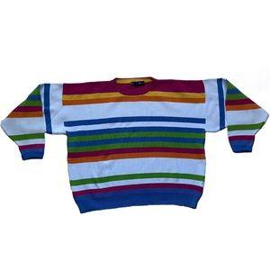 Vintage Nautica Color Striped Oversized Sweater